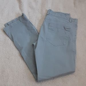 Mens Calvin Klein Pants Grey Silver